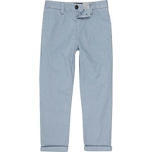 Boys light blue chino trousers