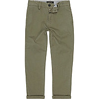 Pantalon chino kaki pour garçon