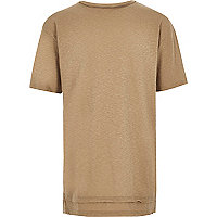 Boys stone layered hem T-shirt