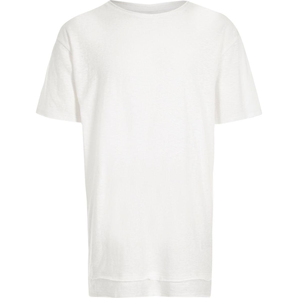 Boys white layered hem T-shirt