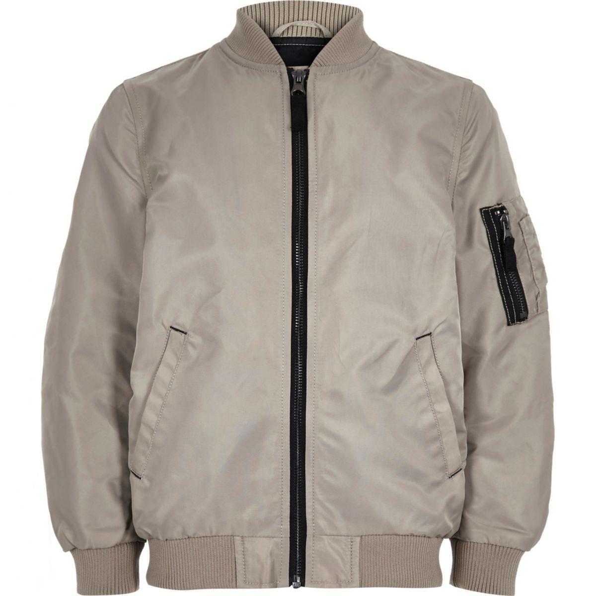 Boys stone bomber jacket