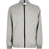Boys grey textured bomber jacket