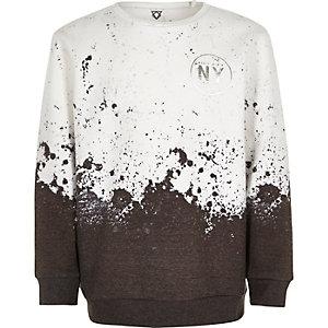 Sweat blanc motif éclaboussures de peinture pour garçon