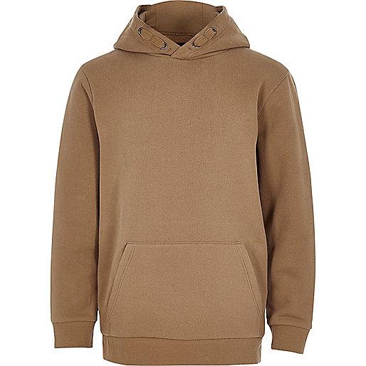 Boys camel casual hoodie
