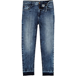 Dylan – Slim Fit Jeans in blauer Acid-Waschung