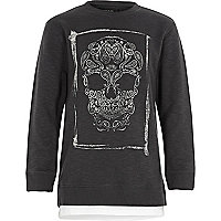 Boys grey skull sweatshirt