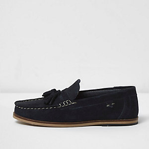 Loafer mit Quasten aus Wildleder