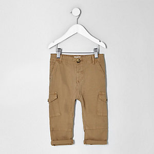 Mini boys light brown cargo pants