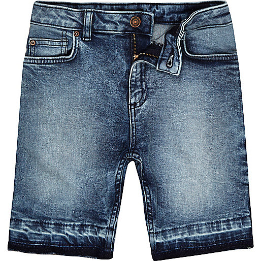Boys blue acid wash Dylan denim shorts