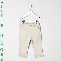 Pantalon chino grège mini garçon