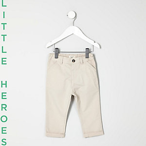 Mini boys stone chino pants