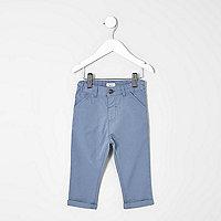 Mini boys light blue chino trousers
