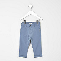 Mini boys light blue chino pants