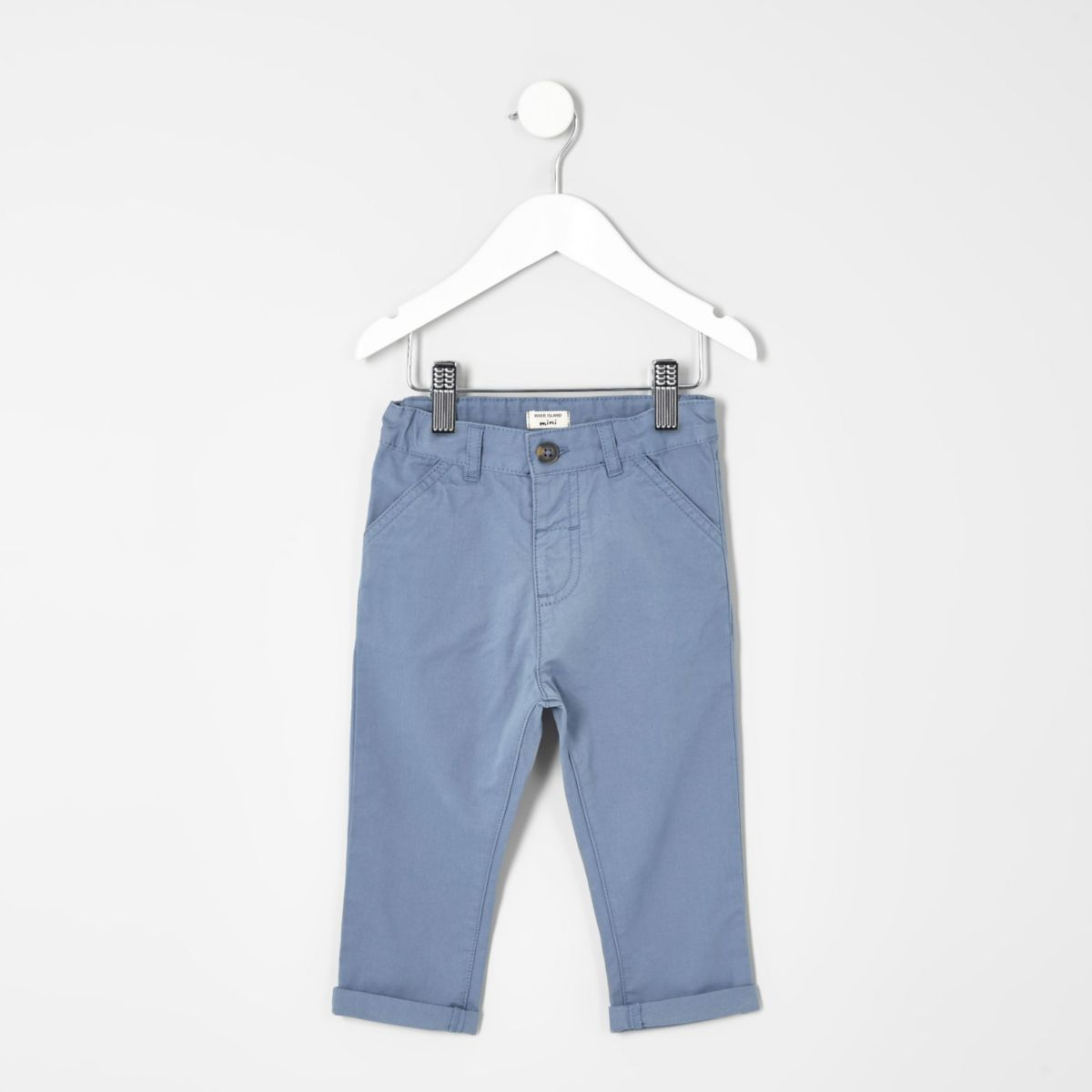 Mini boys light blue chino trousers