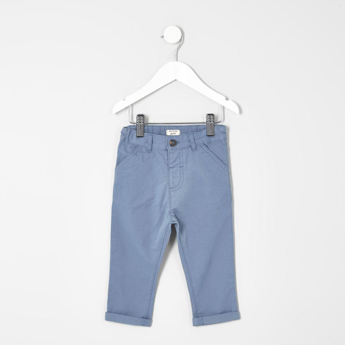 Mini boys light blue chino pants