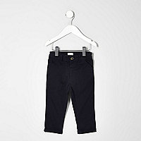 Mini boys navy chino trousers