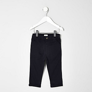 Pantalon chino bleu marine mini garçon