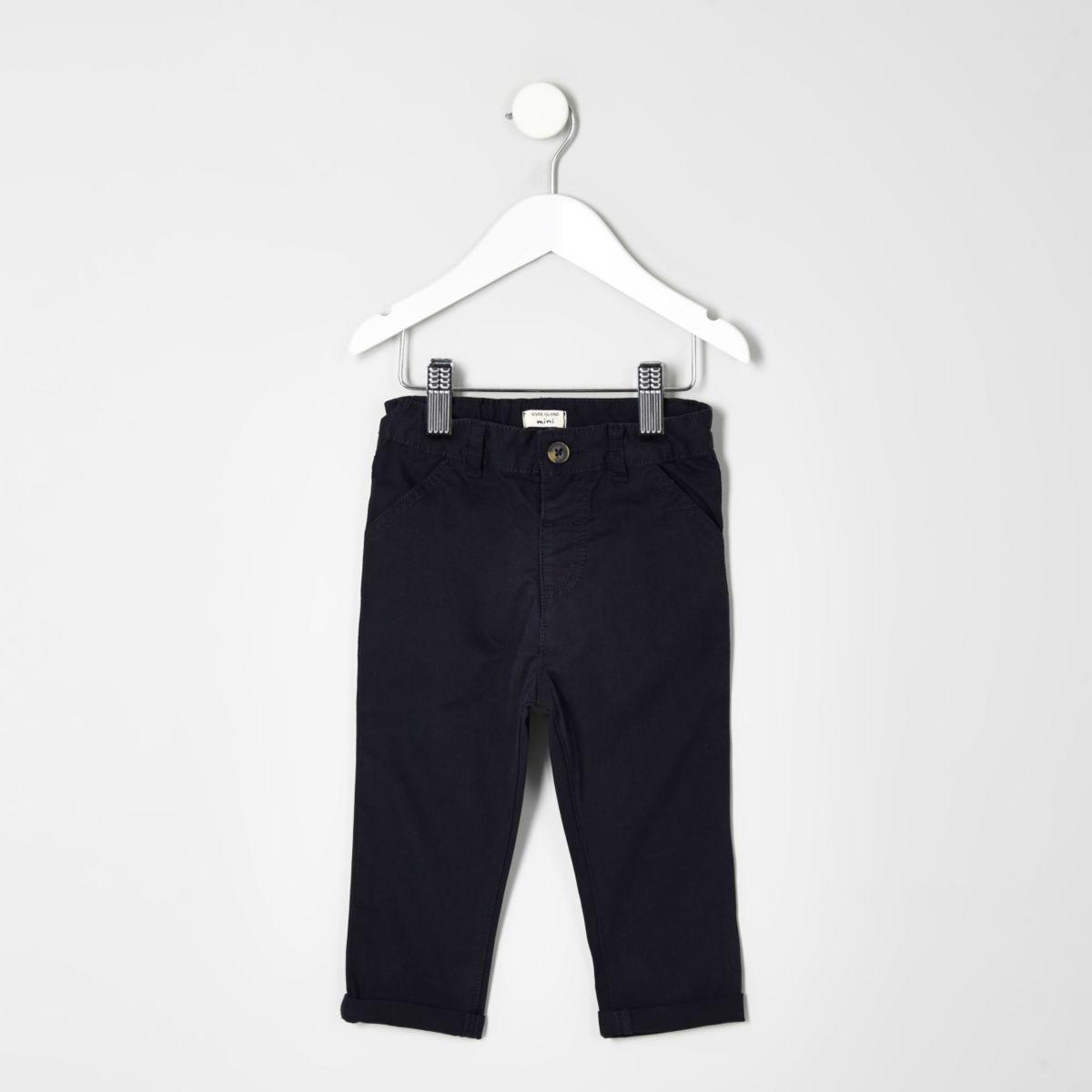 Mini boys navy chino trousers