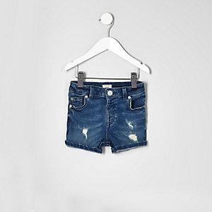 Short en jean bleu mini garçon