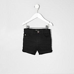 Short en jean noir pour mini garçon