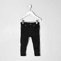 Mini boys black Sid skinny jeans