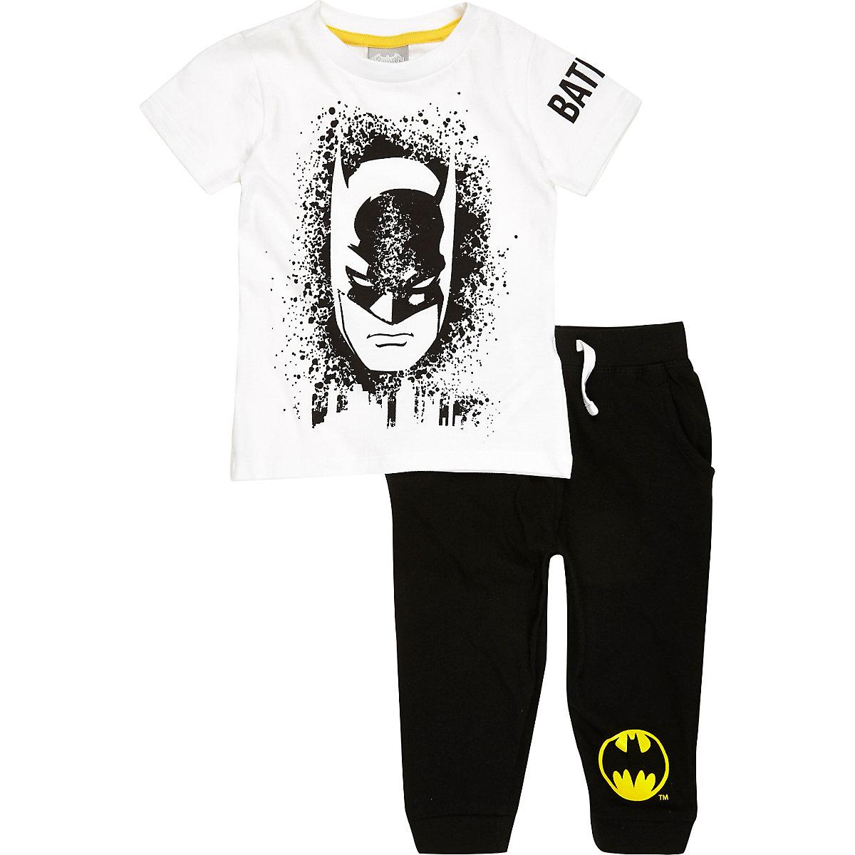 Mini boys black Batman pajama set