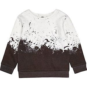 Sweat blanc motif éclaboussures de peinture mini garçon