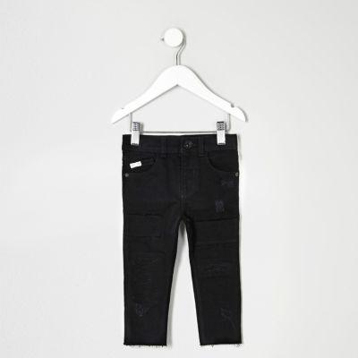 Mini Sid zwarte distressed skinny jeans voor jongens