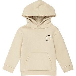Mini - kiezelkleurige hoodie met logo voor jongens