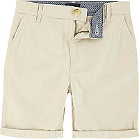 Boys light beige chino shorts