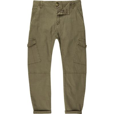 River Island Pantalon cargo kaki garçon