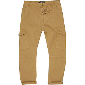 Boys light brown cargo pants