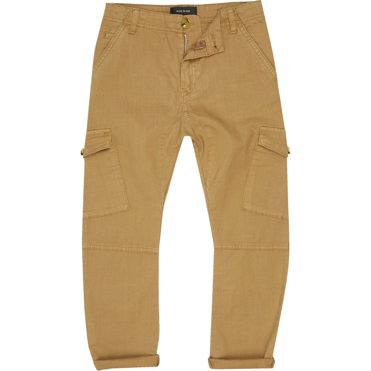 Boys light brown cargo trousers