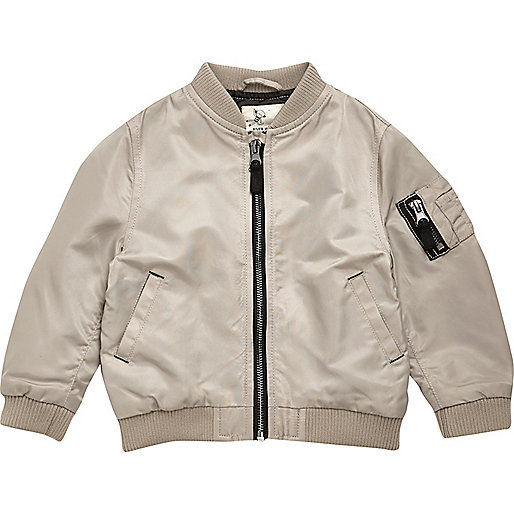 Mini boys stone bomber jacket