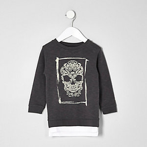 Mini boys skull sweatshirt