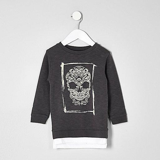 Mini boys skull sweatshirt