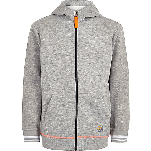 Boys RI Active grey sports hoodie