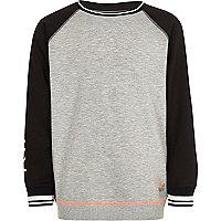 Boys RI Active grey sports sweatshirt