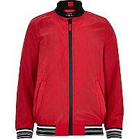 Boys red sports bomber jacket