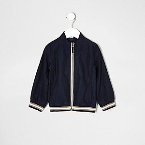 Mini boys navy sports zip up jacket