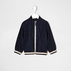 Mini boys navy sports zip up jacket
