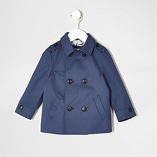 Mini boys navy blue smart mac jacket