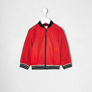 Mini boys red sports zip up jacket