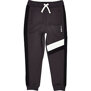 Boys grey block joggers