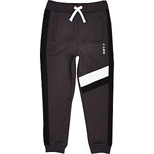 Pantalon de jogging gris effet colour block pour garçon