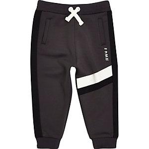 Pantalon de jogging gris motif colour block mini garçon