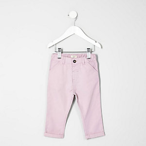 Mini boys pink chino trousers