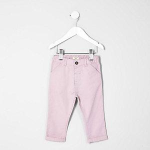 Mini - roze chino voor jongens