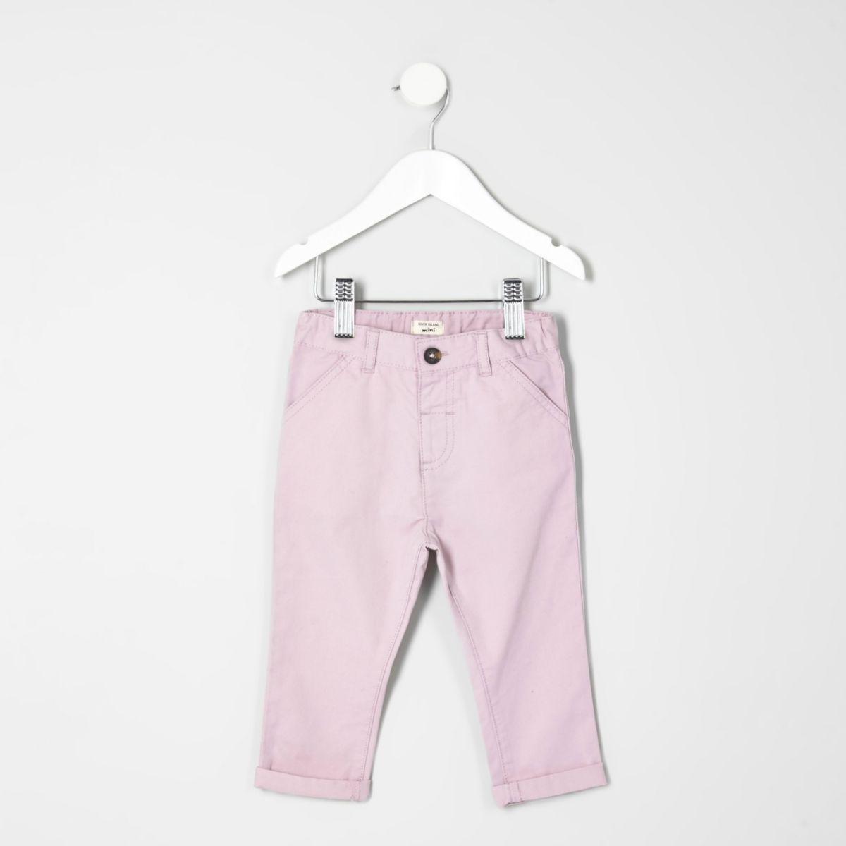Mini boys pink chino trousers