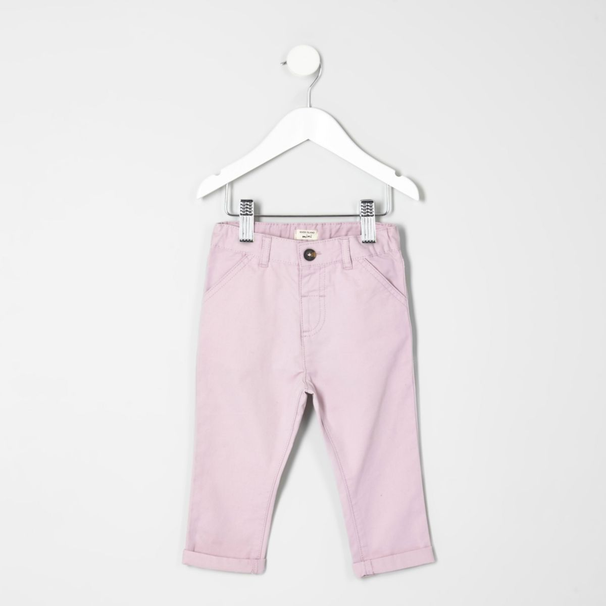 Mini boys pink chino pants